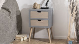 Chevet 2 tiroirs - Collection Enzo
