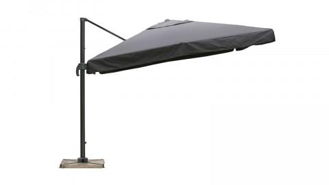 Parasol déporté avec volets 3x3m gris - Collection Sunny