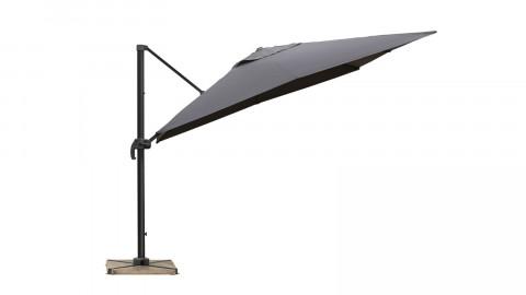 Parasol excentré 3x3m gris - Collection Sunny