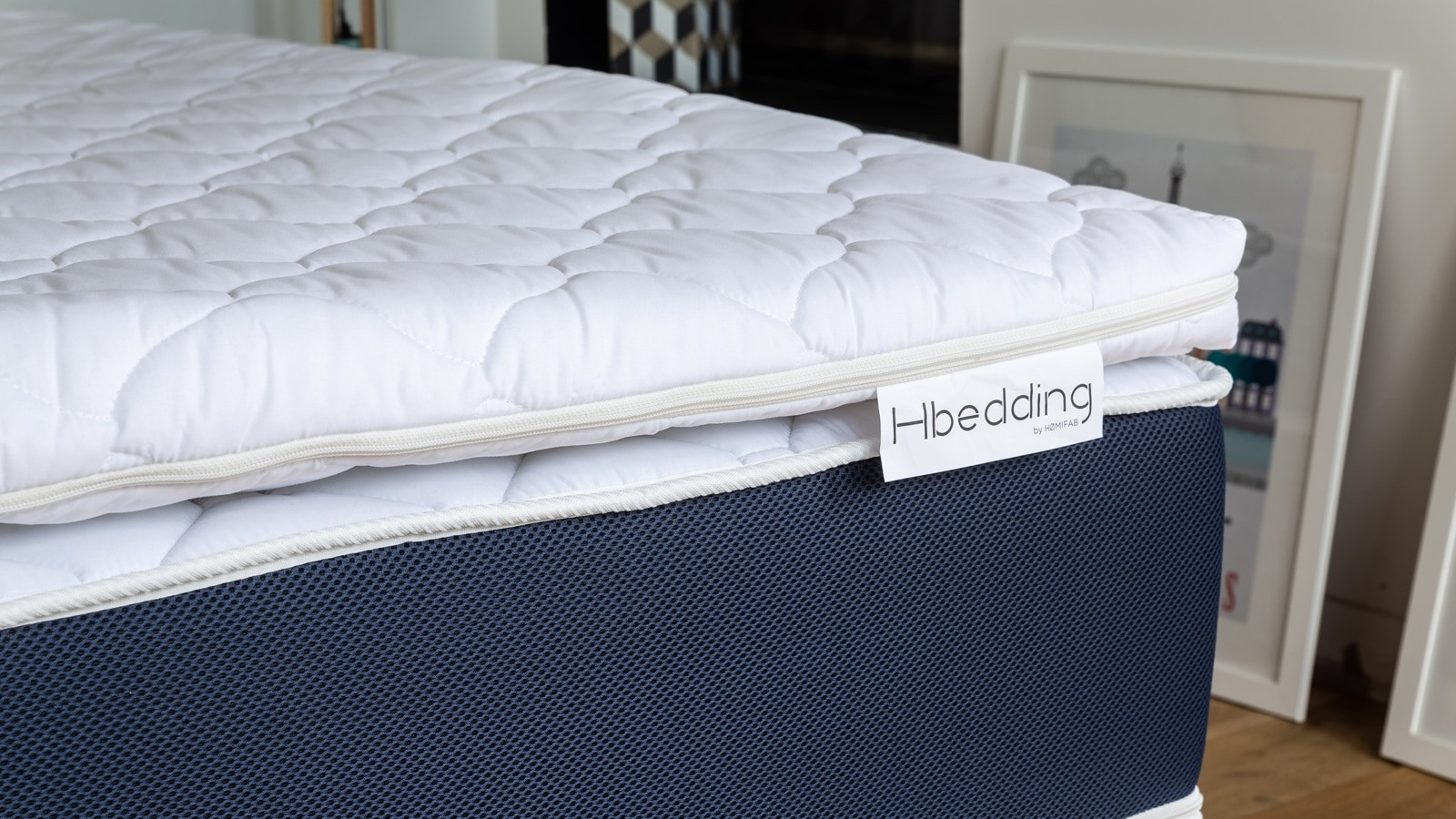 sur matelas d houssable m moire de forme 160x200 memory. Black Bedroom Furniture Sets. Home Design Ideas