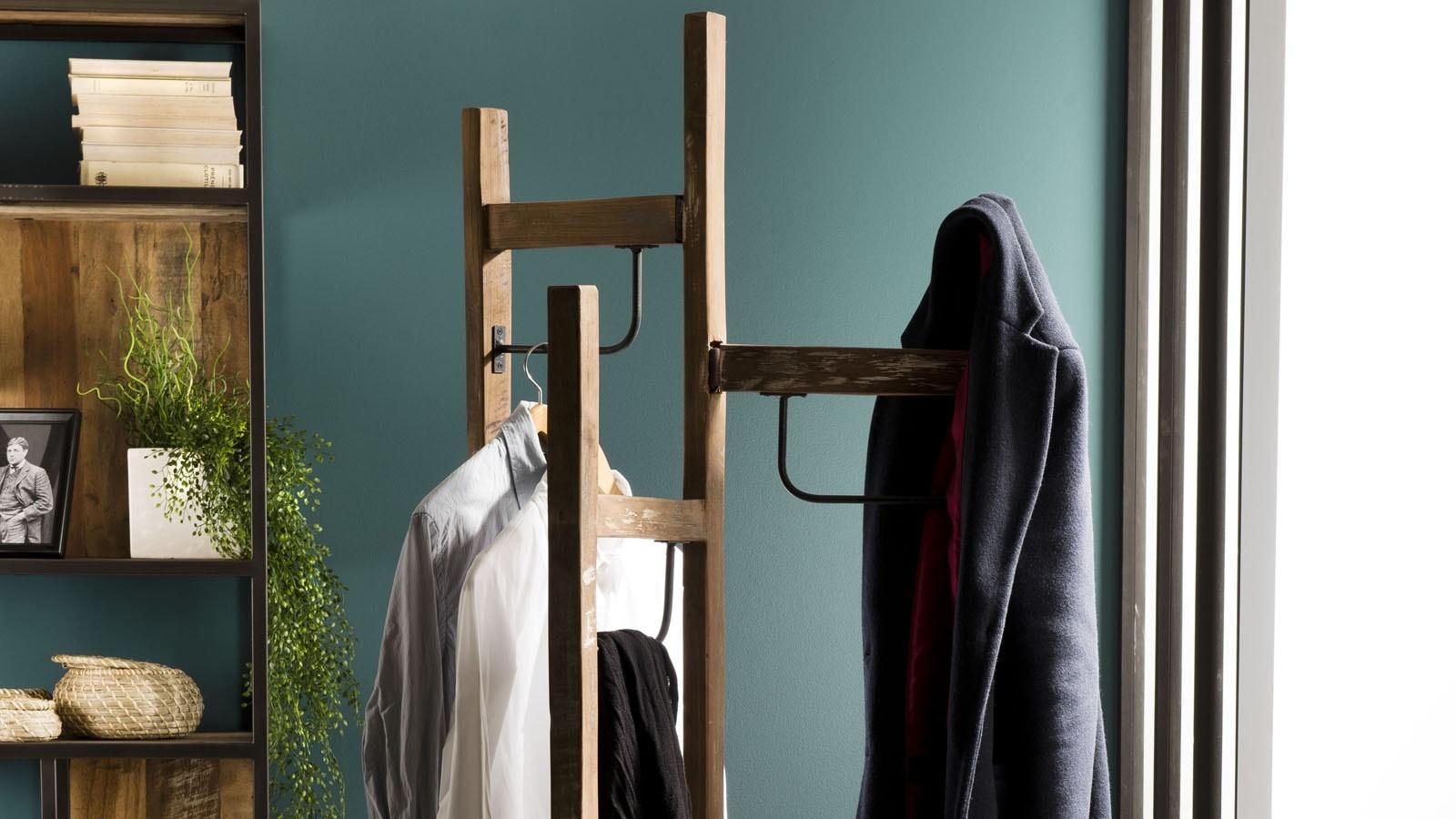 porte manteau 3 ventaux en teck recyclé