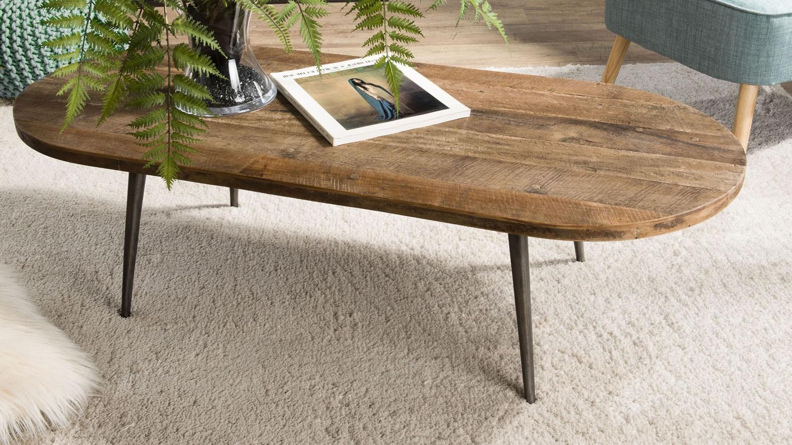 table ovale style industriel