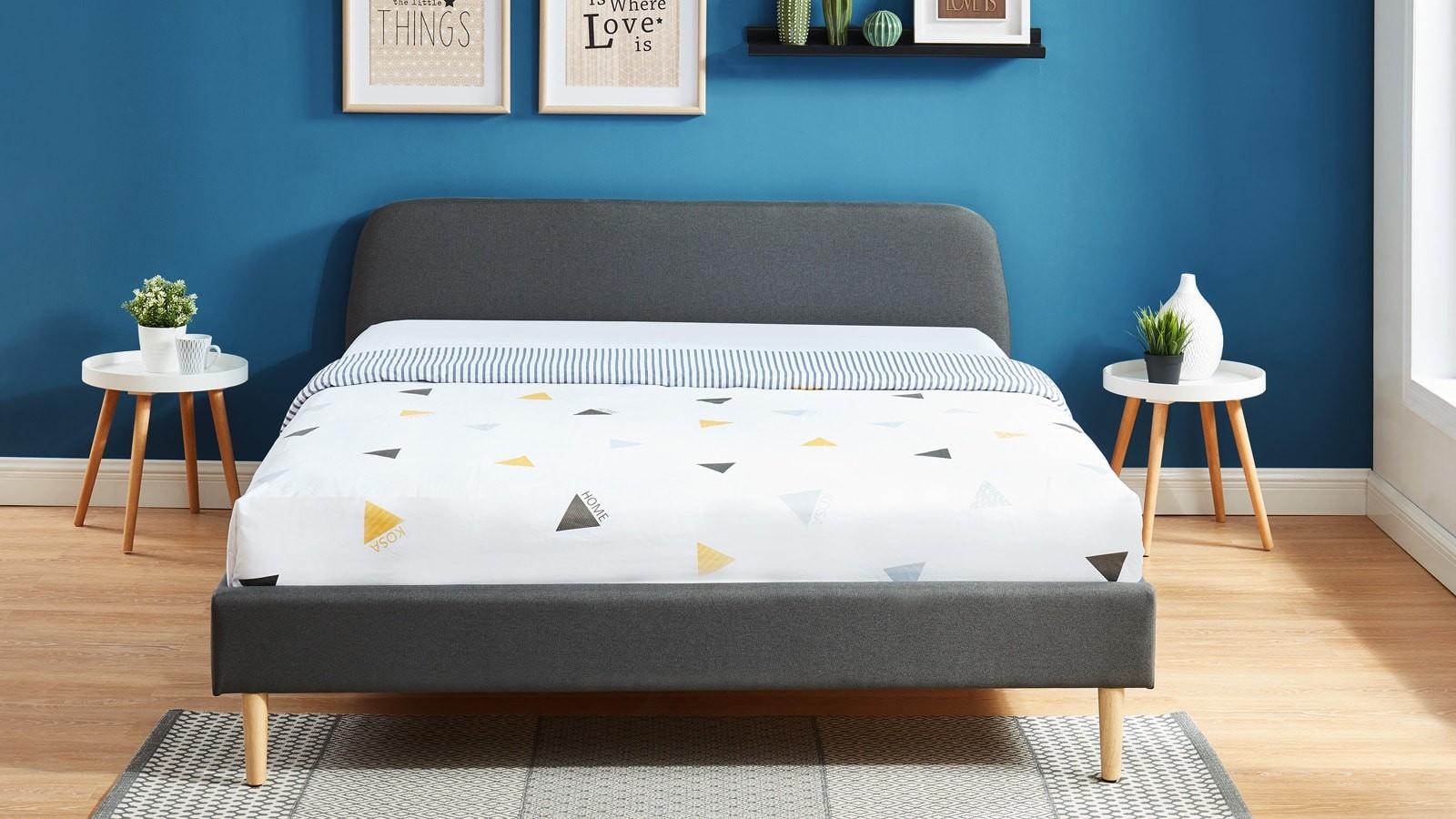 lit adulte scandinave 140x190 gris fonc collection gaby homifab. Black Bedroom Furniture Sets. Home Design Ideas
