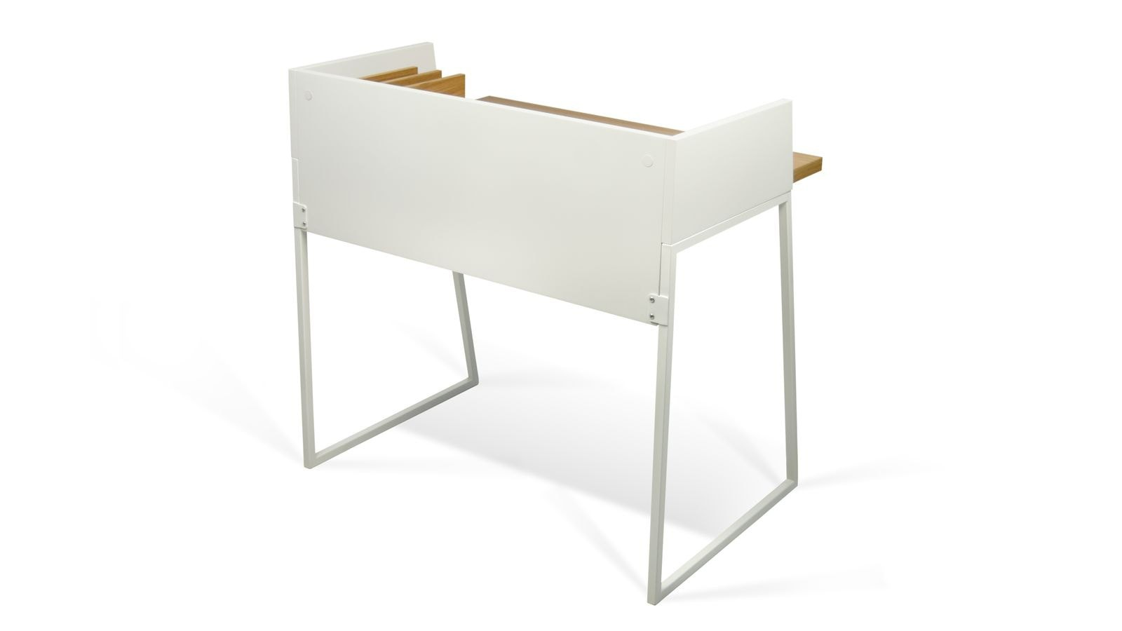Bureau blanc et bois clair collection volga temahome homifab