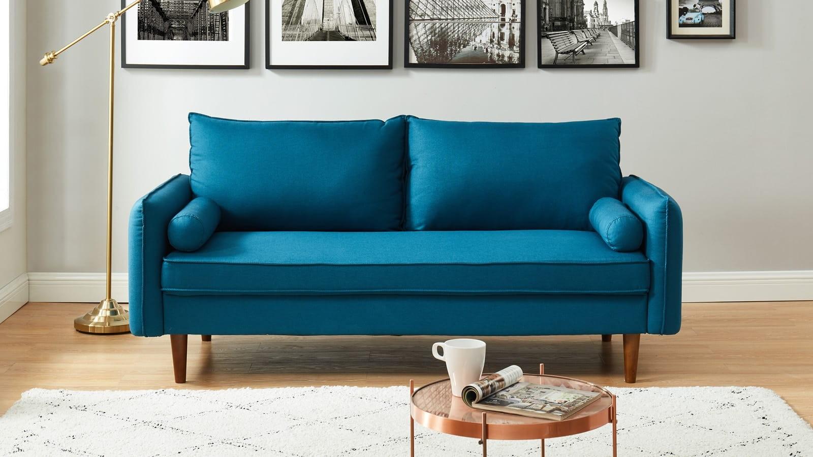 canapé droit en tissu