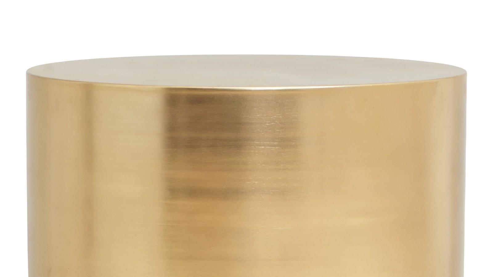 table basse dorée en métal