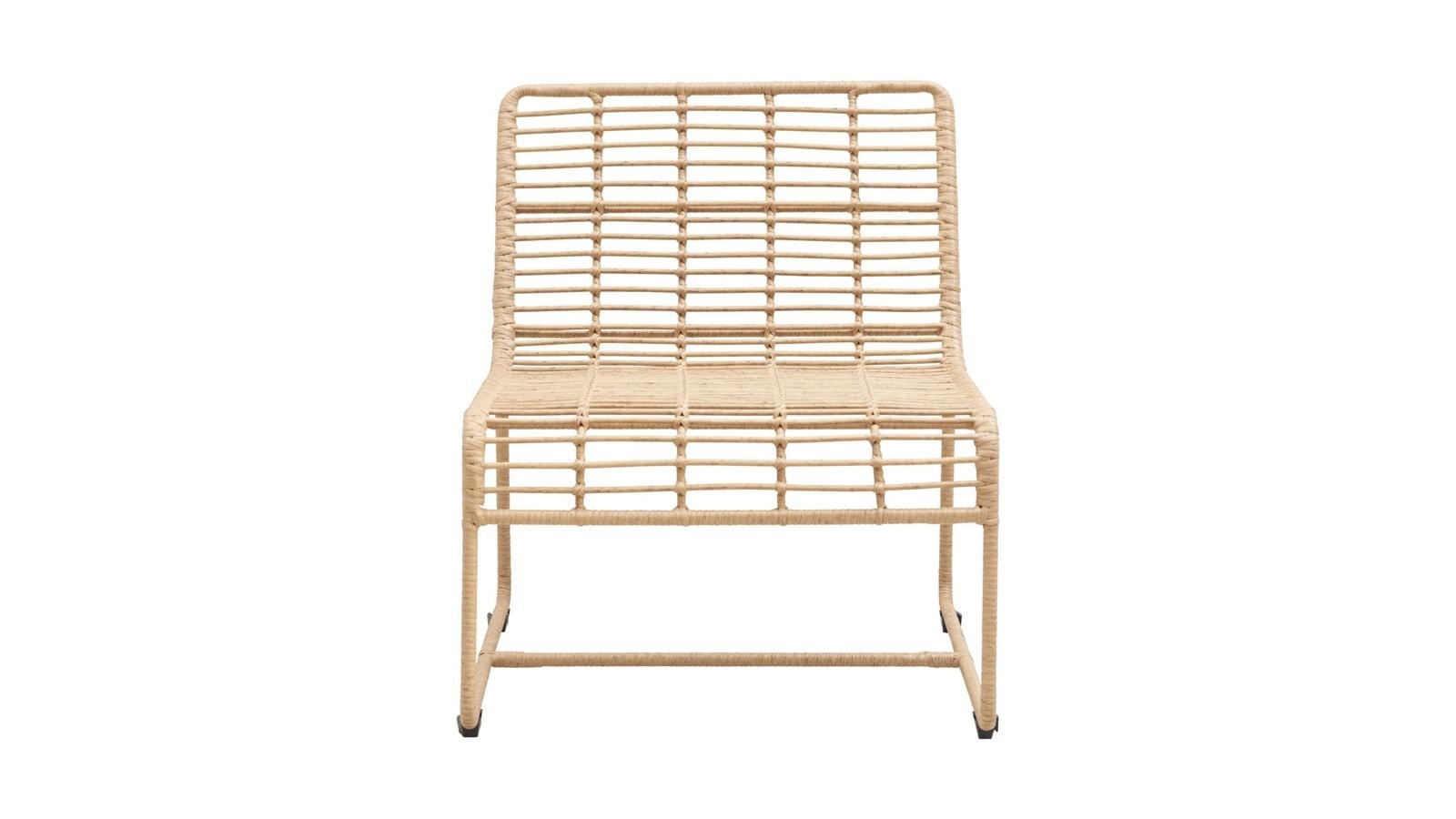 chaise de jardin en métal marron clair