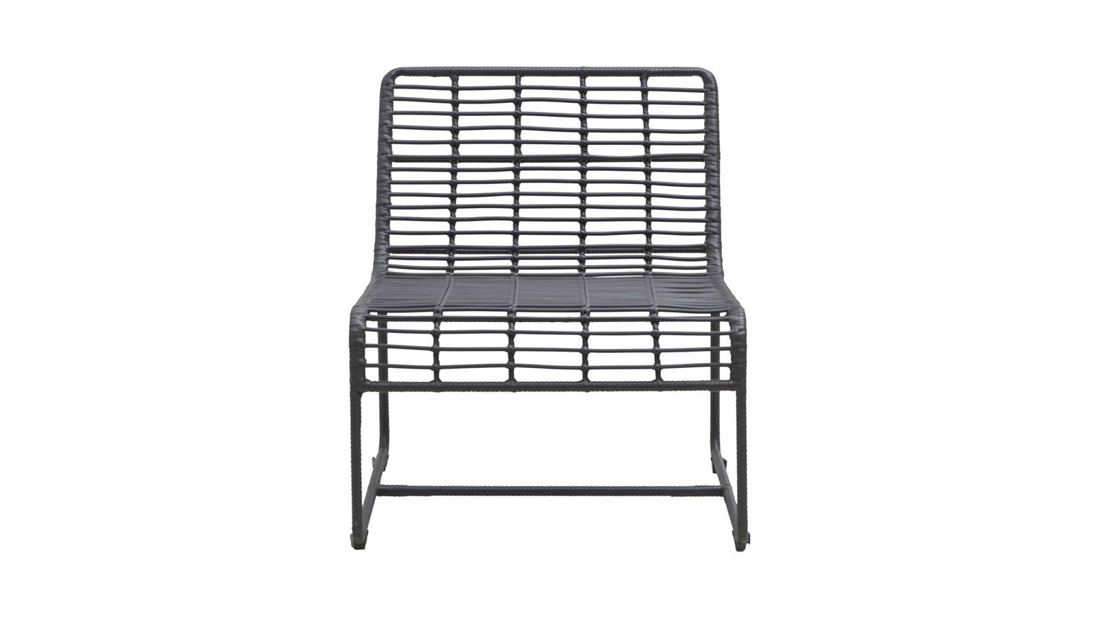 chaise de jardin en métal noir