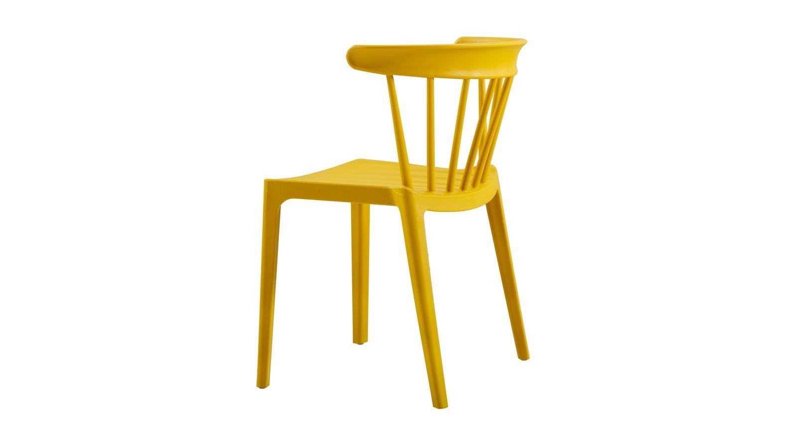 chaise ocre en plastique moderne