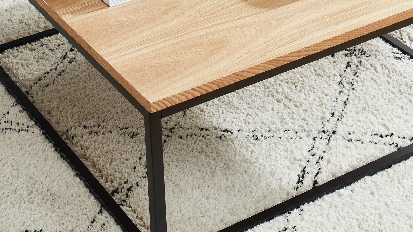 table basse industrielle Brixton
