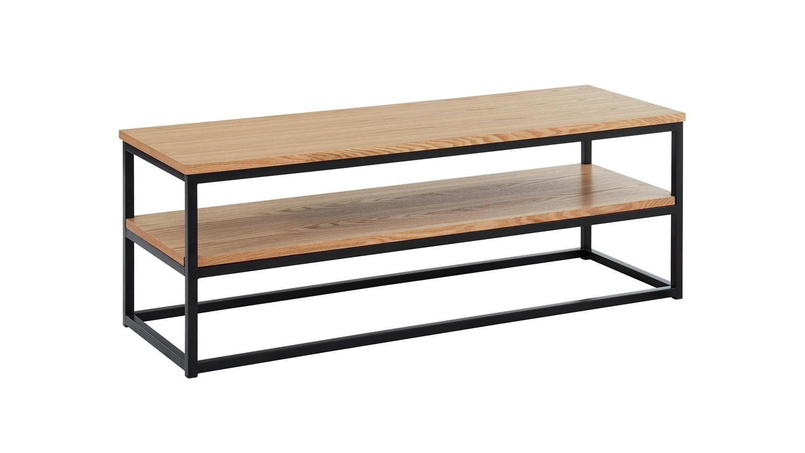 meuble TV industriel 2 plateaux