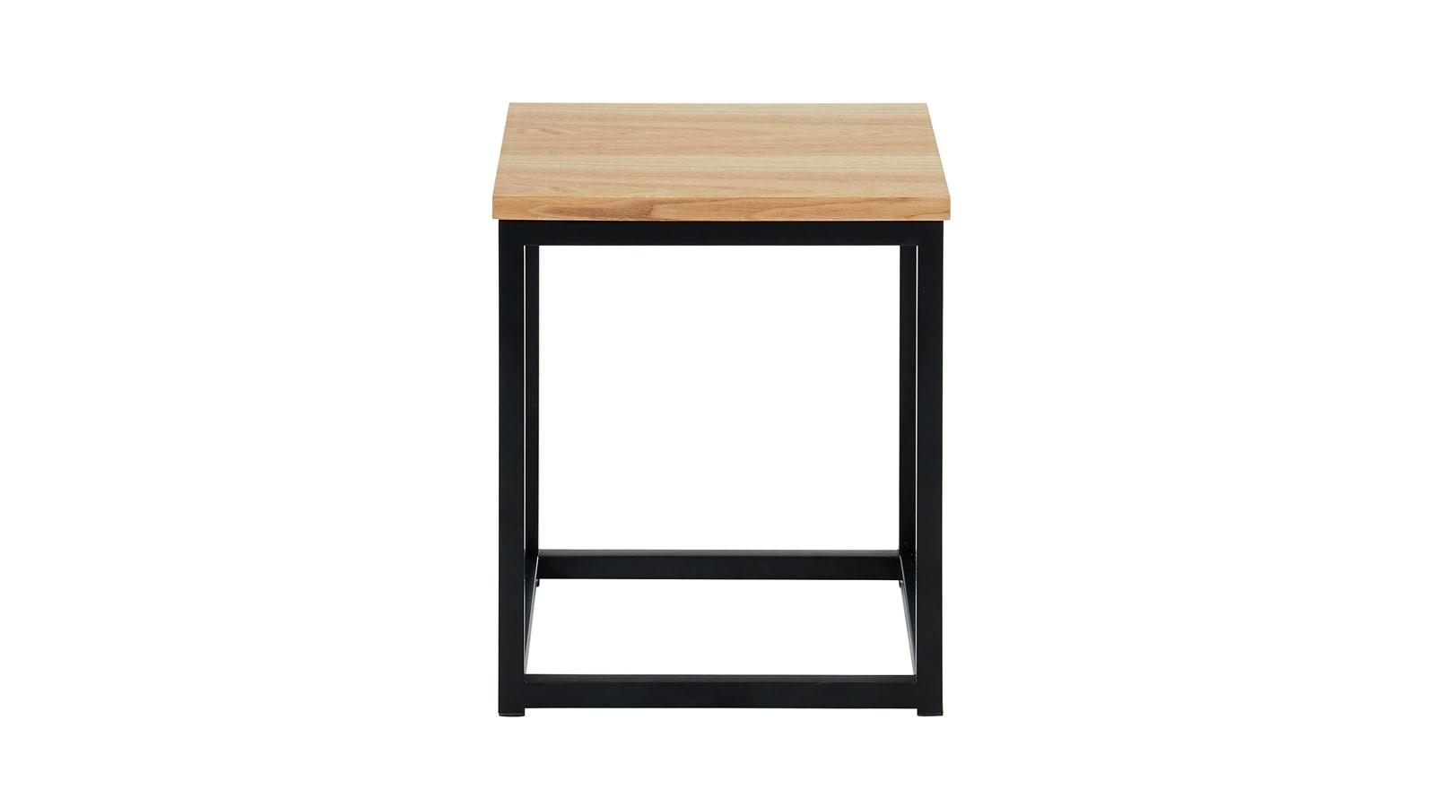 table d'appoint industrielle Brixton en chêne et métal