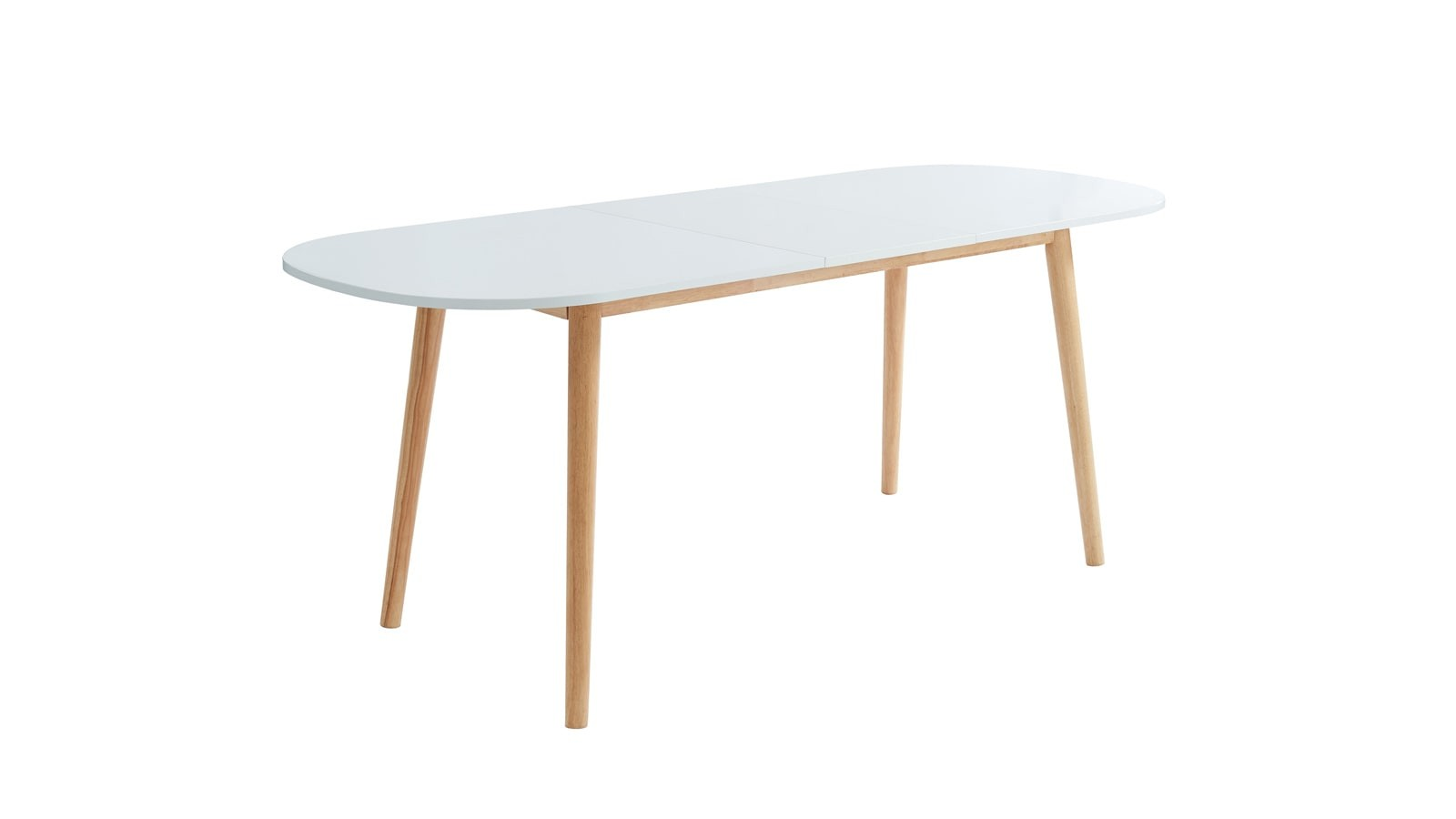 Table à manger scandinave extensible 160 à 200x80x75 cm ...