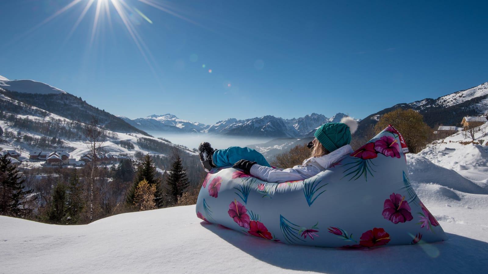 Fatboy Pouf gonflable au ski