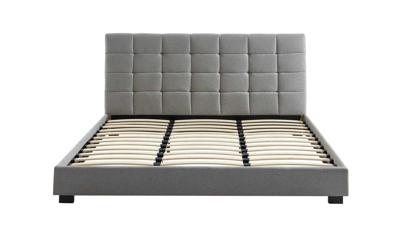 lit gris clair deux places