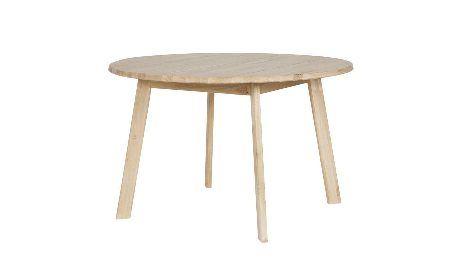 Table à manger ronde en chêne 120cm de diamètre - Collection Disc ...