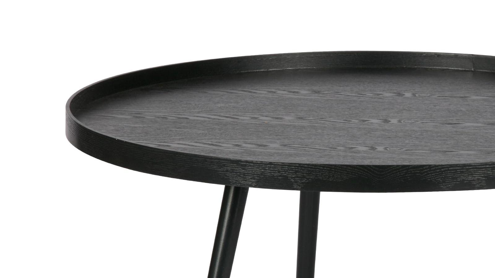 ronde en bois 60cmpiètement x conique basse 34 Table noir nPX80wOk